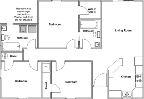3 bedroom floor plan 3 bedroom house floor plans home planning ideas 2018