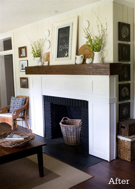 The Lettered Cottage Fireplace Makeover by Our Fireplace After The Lettered Cottage