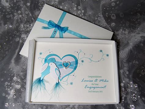 Luxury Handmade Cards - duet luxury handmade engagement card