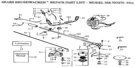 craftsman 32cc wacker parts diagram craftsman brushwacker parts model 358797270 sears