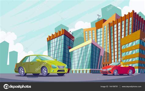 imagenes de zonas urbanas animadas ilustraci 243 n de dibujos animados de vector de un paisaje
