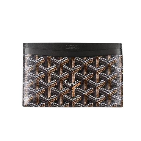 Luxe Interiors Magazine Goyard Brand New Brown Vector Leather Rectangle Card