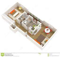 3d Floor Plan Free Apartment Interior Design 3d Floor Plan Royalty Free
