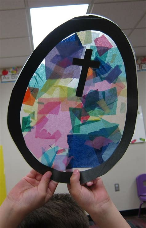 Paper Stained Glass Craft - tissue paper stained glass craft mrs s class