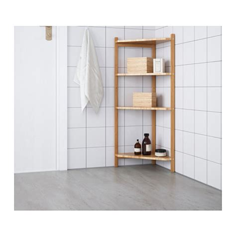 Ikea Corner Bookcase Unit R 197 Grund Corner Shelf Unit Bamboo 34x99 Cm Ikea