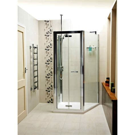 Roman Embrace Trapezium Space Saving Shower Enclosure Uk Space Saving Shower Doors