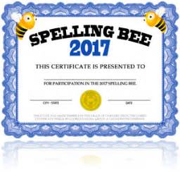 Spelling Bee Award Certificate Template by Free Spelling Bee Certificate