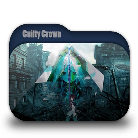 guilty crown anime icon by rizmannf on deviantart guilty crown folder icon by twisted vocaloid on deviantart