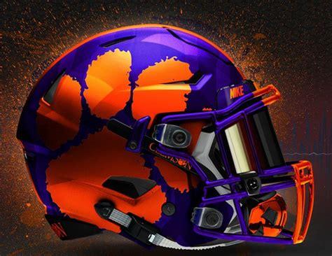 colorful football visors photo purple helmet concept design for clemson tigernet