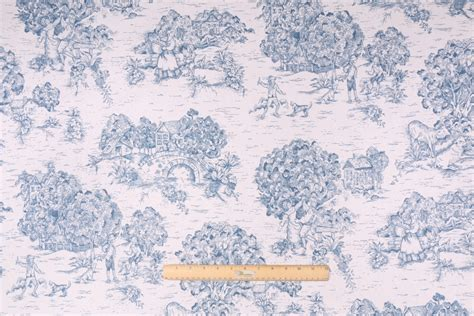 toile drapery fabric toile printed cotton drapery fabric in blue