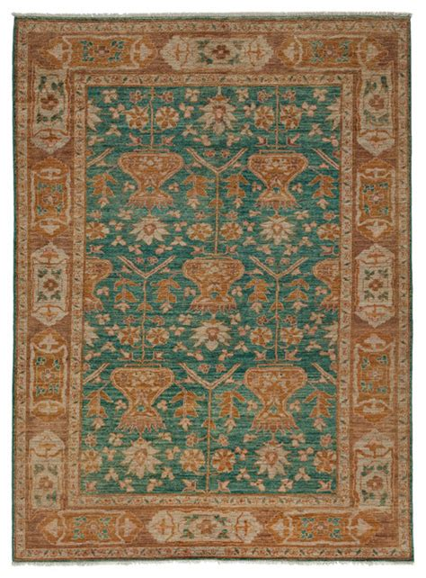 Teal Area Rug 5x8 with Oushak Wool Area Rug Teal 5x8 Traditional Area Rugs By Rugs