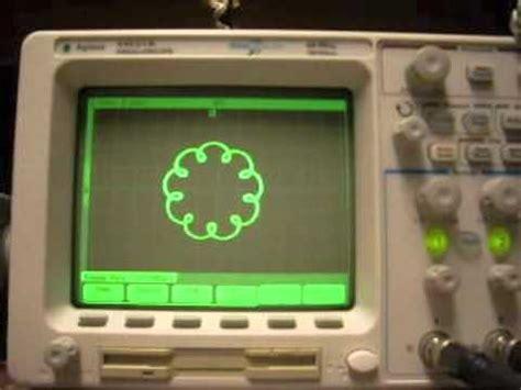 lissajous pattern youtube lissajous patterns on oscilloscope youtube