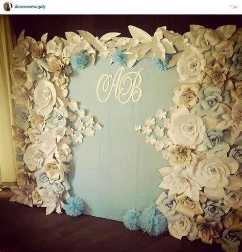 Wedding Backdrop With Paper Flowers paper flowers backdrop wedding paper backdrop