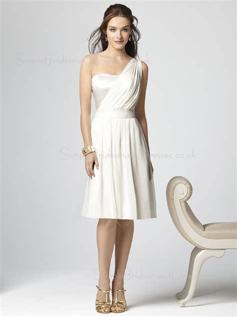 White Bridesmaid Dress by White Draped Ruffles Chiffon A Line Zipper Bridesmaid