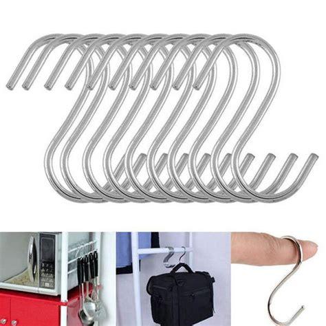 hanger gantungan serbaguna stainless steel 10pcs silver