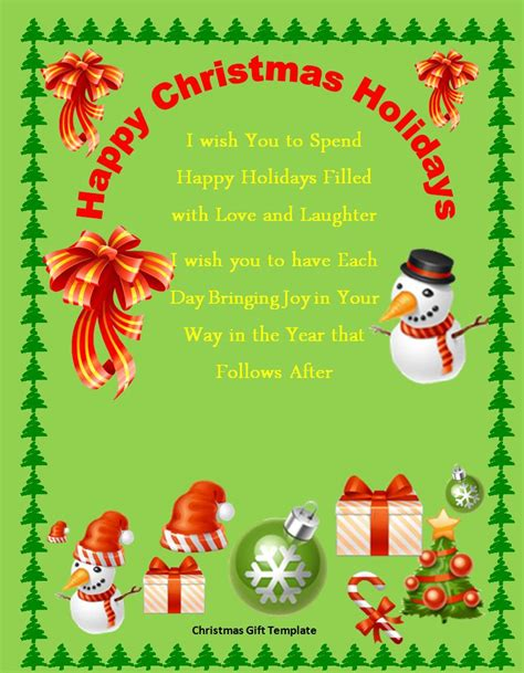 christmas word templates 45 free christmas letter templates that