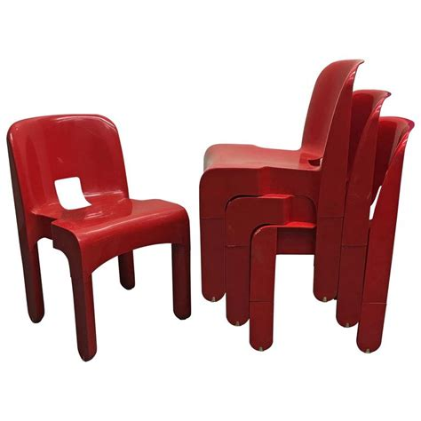 Kartell Dining Chair Four Universale Dining Chairs By Joe Colombo For Kartell At 1stdibs