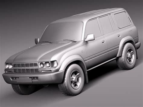 Toyota 1989 Models Toyota Land Cruiser J80 1989 1997 3d Model Max Obj 3ds