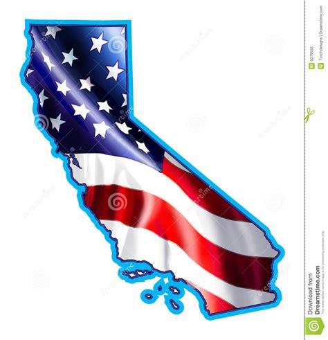 california map flag california map with flag illustration stock illustration