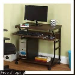 Small Espresso Desk Computer Desk Office Small Furniture Espresso Laptop Space Saving Desks New Ebay
