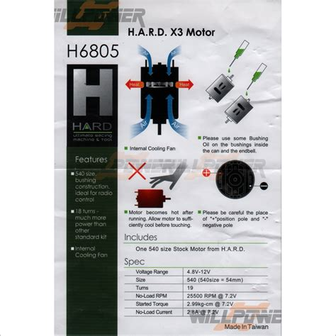 x3 brushed motor h6805 rc willpower h a r d e4d ebay