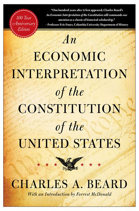 the constitution of the united states books an economic interpretation of the constitution of the