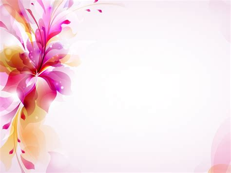 Colorful design floral vector illustration ppt template colorful