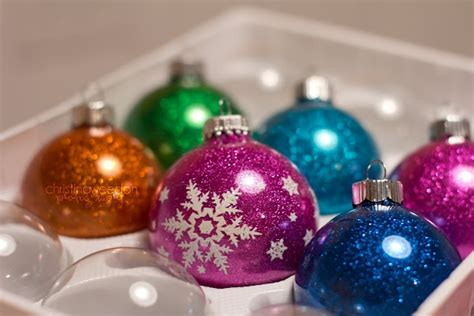 diy ornaments glitter diy mess free glitter ornaments ornaments