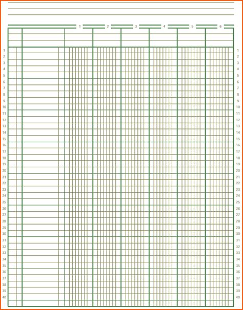 printable ledger template printable ledger paper free printable paper