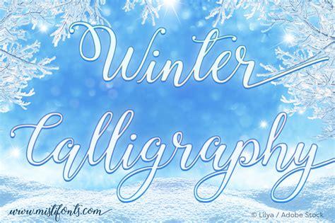dafont winter winter calligraphy font dafont com