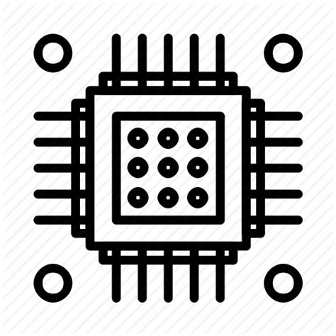 integrated circuit icon png chip circuit ic integratedcircuit microchip microprocessor semiconductor icon icon