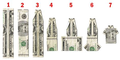 T Shirt Dollar Bill Origami - origami money folding cool ideas