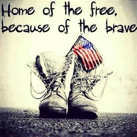 home of the free because of the brave soldiers flag