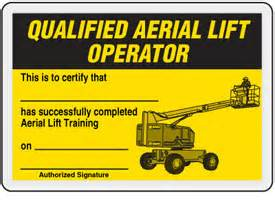 qualified aerial lift operator card emedco