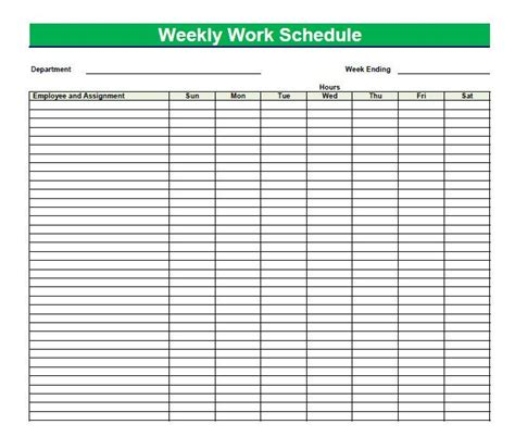 Blank Time Sheets For Employees Printable Blank Pdf Weekly Schedules Are Extremely Easy And 2 Week Employee Work Schedule Template