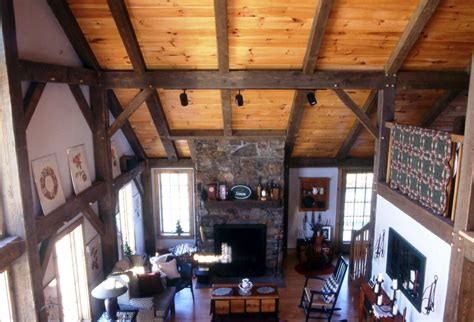 beautiful heavy timber construction  vermont timber
