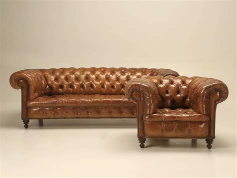 Original Chesterfield Sofas Antique Leather Chesterfield Sofa In Original Leather For Sale At 1stdibs
