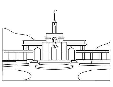 indianapolis temple coloring page best lds clipart 23813 clipartion com