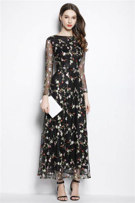 Sleeve Organza Dress black organza floral dress sleeves 95