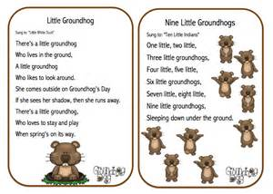 Printables groundhog day songs poems and finger play amp puppet sticks