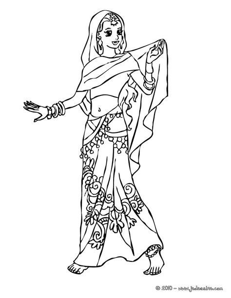 Coloriages Coloriage Princesse Indienne Fr Hellokids Com Indian Princess Coloring Pages Free Coloring Sheets