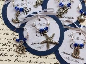 custom nautical themed wine charm favors weddings
