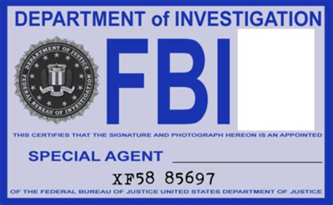 fbi id card template fbi id blank psd vector vectorhq