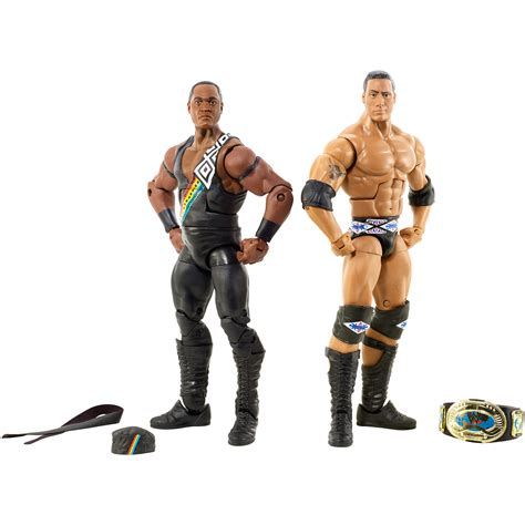kmart wwe wrestlers wwe nation of domination the rock faarooq 2 pack