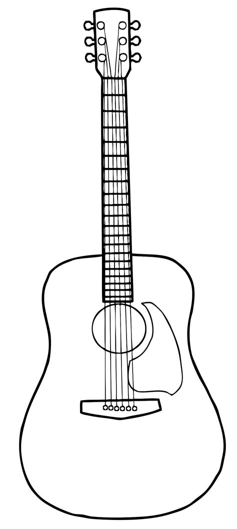 Acoustic Guitar Outline Drawing big image png