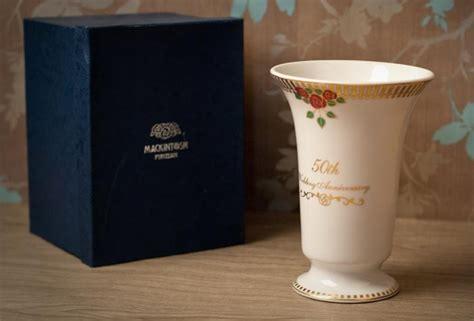 Wedding Anniversary Vase by 50th Wedding Anniversary Collection Vase 50th Wedding