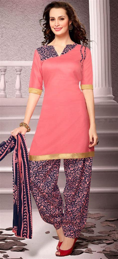 patiala kurta pattern usd 20 13 salmon cotton patiala salwar kameez 43461