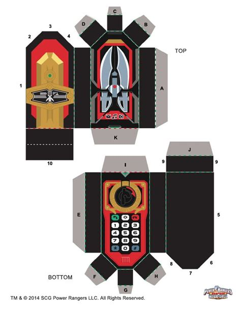 Power Rangers Papercraft - 397 best images about power rangers on
