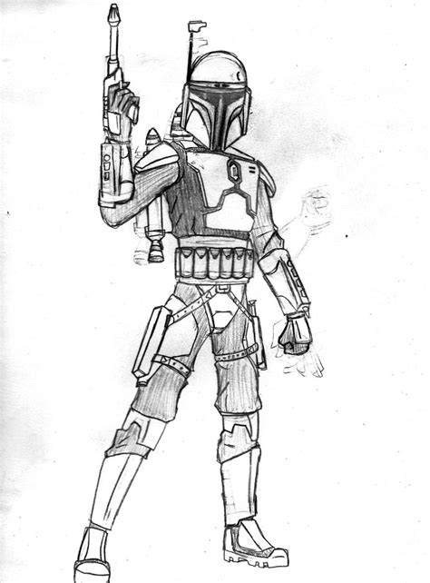 lego jango fett coloring coloring pages