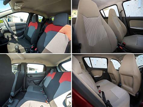 renault kwid interior seat renault kwid vs maruti suzuki alto k10 exterior